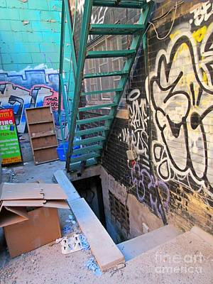 Basement Apartment In Graffiti Alley Poster by John Malone