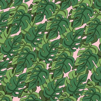 Basic Green Lead Pattern Poster