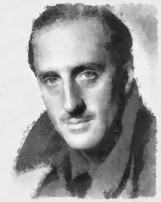 Basil Rathbone Actor Poster by Esoterica Art Agency