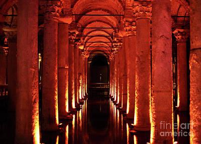 Basilica Cistern Poster by John Rizzuto