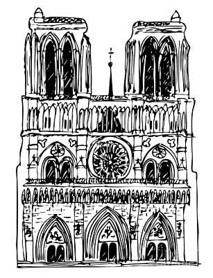 basilica Notre Dame Poster