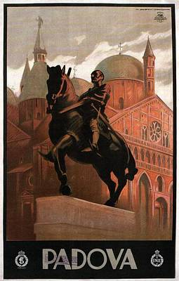 Basilica Of Saint Anthony In Padua - Padova, Italy - Vintage Illustrated Poster Poster