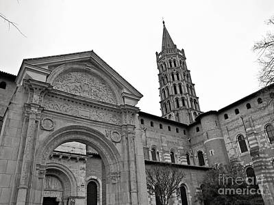 Poster featuring the photograph Basilique St Sernin In Toulouse by Cendrine Marrouat