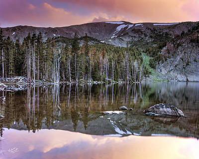 Basin Lake Sunset Poster by Leland D Howard