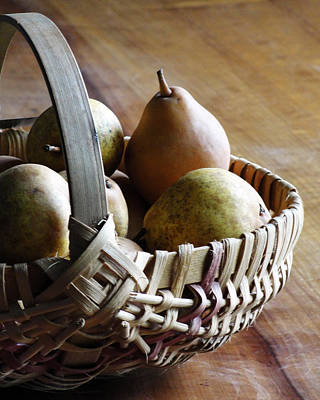 Basket And Pears Poster