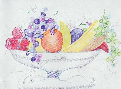 Basket Of Fruit Poster by Suzanne  Marie Leclair