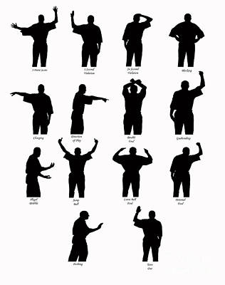 Basketball Call Silhouettes Poster