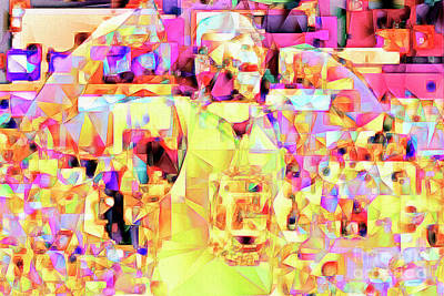 Basketball Power Flex In Abstract Cubism 20170328 Poster by Wingsdomain Art and Photography