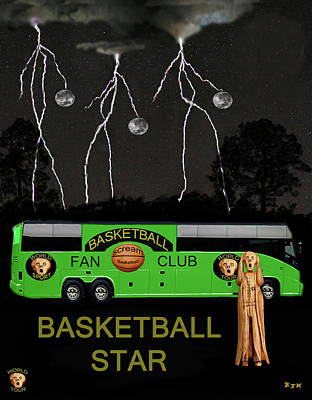 Basketball Star Poster by Eric Kempson