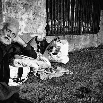 Basking Basque  #man #portrait Poster by Rafa Rivas