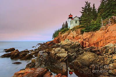 Bass Harbor Head Light - Maine Poster by Henk Meijer Photography
