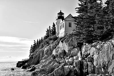 Bass Harbor Head Lighthouse - Maine Poster by Brendan Reals