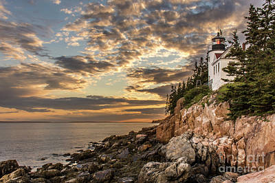 Bass Harbor Head Lighthouse Sunset Poster