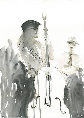 Poster featuring the painting Bass Notes by Brian Meyer