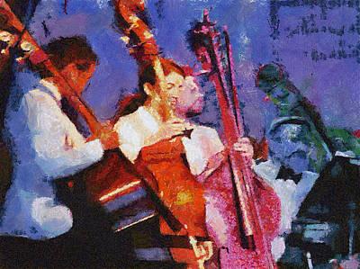 Bass Section Poster by Robert Bissett