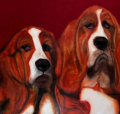 Basset Hound - Mia And Marcellus Poster by Laura  Grisham