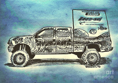 Basszilla Monster Truck - Abstract Background Poster