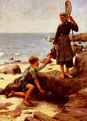 Bastien Lepage Jules Les Enfants Pechs Poster by Jules Bastien Lepage