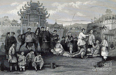 Bastinado, China, 19th Century Poster