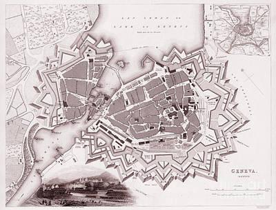 Bastion Fort Of Geneva Switzerland 1841  Poster