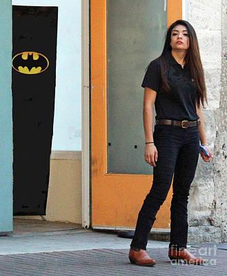 Bat Woman Poster by Joe Jake Pratt