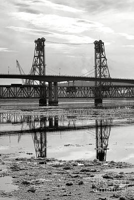 Bath Bridges In Winter Poster