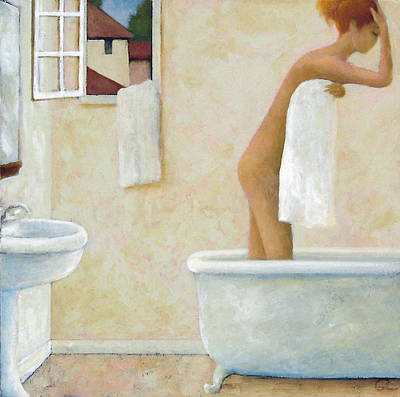 Poster featuring the painting Bather by Glenn Quist