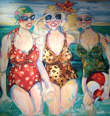 Bathing Beauties  Poster by Heather Roddy