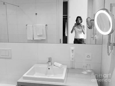 Bathroom Selfie Poster