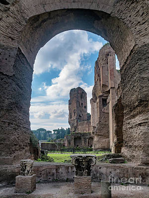 Baths Of Caracalla In Ancient Rome, Italy Poster
