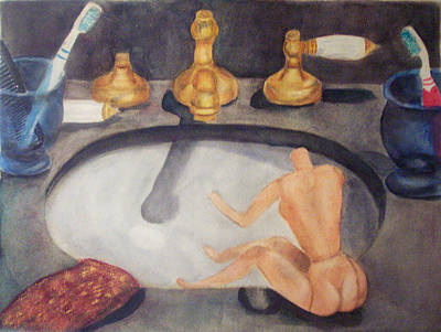 Bathtime Poster by Grace Rose