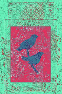 Batik Birds 3 Poster by Priscilla Huber