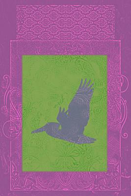 Batik Birds 5 Poster by Priscilla Huber