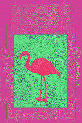 Batik Birds 8 Poster by Priscilla Huber