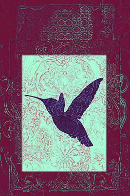Batik Birds 9 Poster by Priscilla Huber