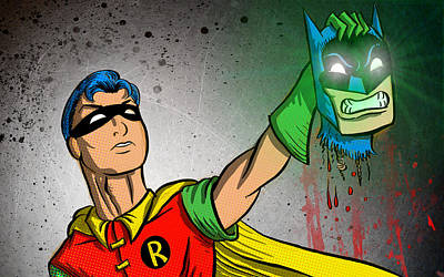Batman And Robin Poster by Joseph Badon
