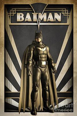 Batman Art Deco Poster by Luca Oleastri