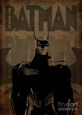 Batman Brown - Wing Bat Poster by Prar Kulasekara