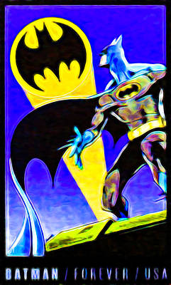 Batman's 75th Anniversary Stamps 1 Poster by Lanjee Chee