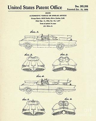 Batmobile-1966 Poster by Pablo Romero