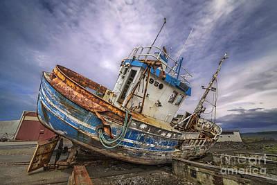 Battered Boat Poster