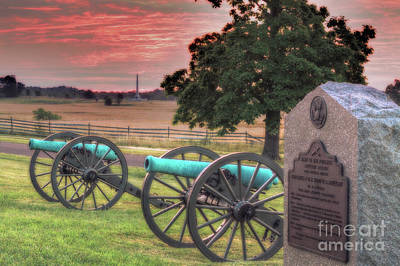 Battery F Cannon Gettysburg Battlefield Poster by Randy Steele