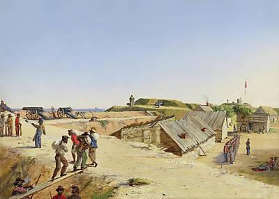 Battery Marshall - Sullivan's Island 1863 Poster by Conrad Chapman