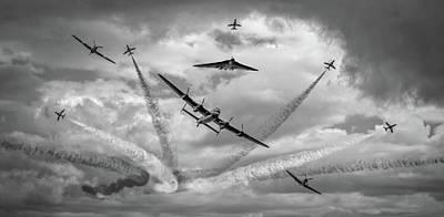 Battle Of Britain Flight And Vulcan Xh558 Poster by Smart Aviation Art