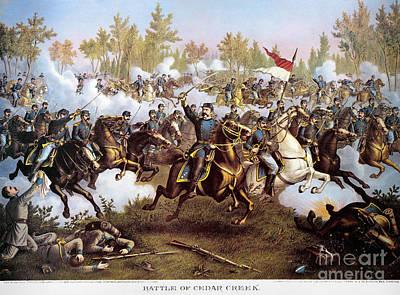 Battle Of Cedar Creek 1864 Poster by Granger