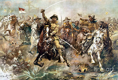 Battle Of San Juan Hill, 1898 Poster by Science Source