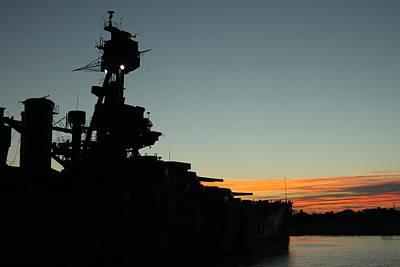 Battleship Sunrise Poster by Ken Shuffield