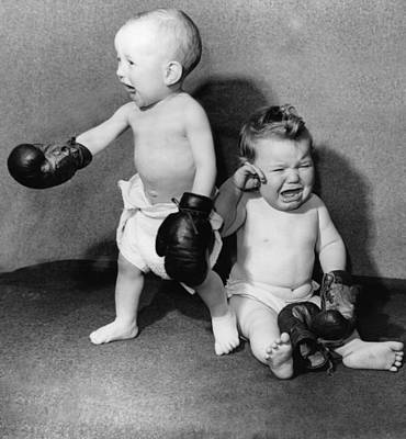 Battling Babies Poster by Fox Photos