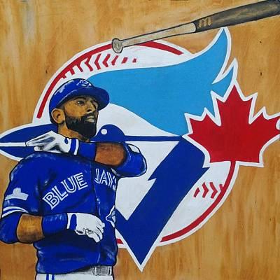 Bautista Bat Flip Poster by Carly Jaye Smith