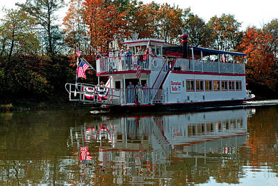 Poster featuring the photograph Bavarian Belle Riverboat by LeeAnn McLaneGoetz McLaneGoetzStudioLLCcom
